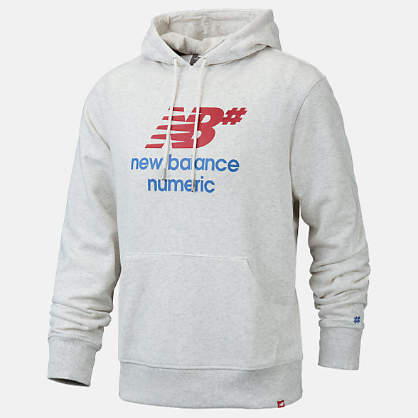NB Sweats à capuche NB Numeric Logo Stacked, MT93657SAH