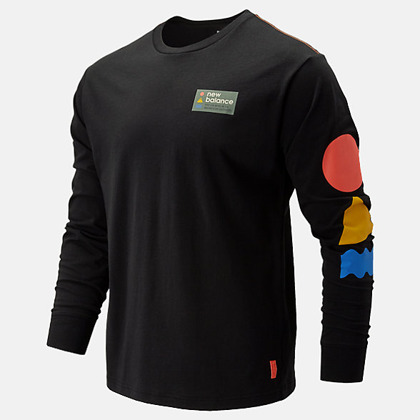 NB NB Athletics Trail Langarm-T-Shirt, MT93693BK
