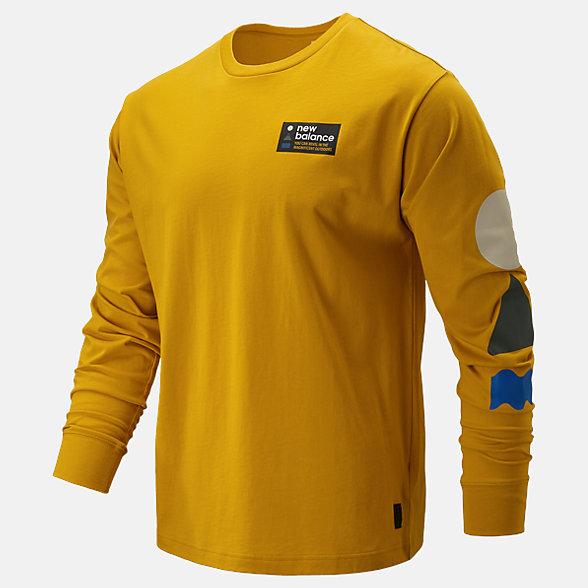 NB NB Athletics Trail Langarm-T-Shirt, MT93693VGL