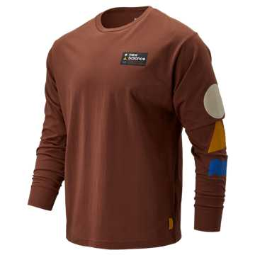 New Balance NB Athletics Trail LS Tee, Warm Copper