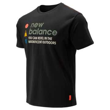 New Balance NB Athletics Trail SS Tee, Black