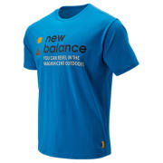 New Balance NB Athletics Trail SS Tee, Nautical Blue