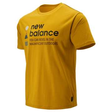 New Balance NB Athletics Trail SS Tee, Varsity Gold