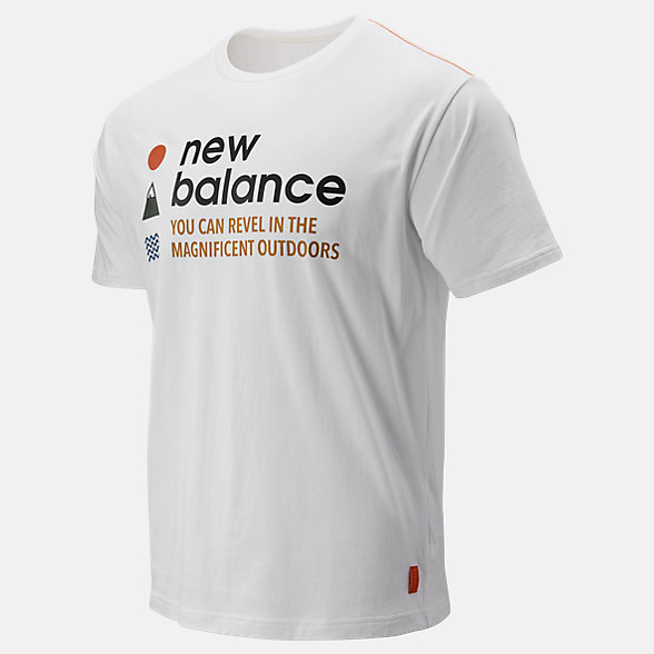 NB T-Shirt a Maniche Corte NB Athletics Trail, MT93694WT