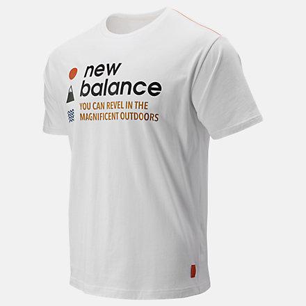 New Balance NB Athletics Trail SS Tee, MT93694WT image number null