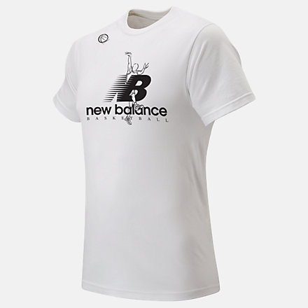 New Balance The Shot Tee, MT93703WT image number null