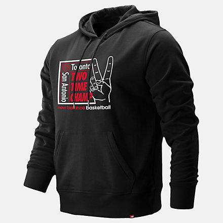 New Balance 2 Time Champ Hoodie, MT93705BK image number null