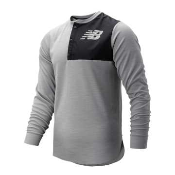 New Balance ASYM Baseball Henley, Athletic Grey