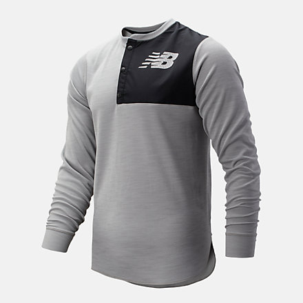New Balance ASYM Baseball Henley, MT93712AG image number null