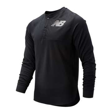 New Balance ASYM Baseball Henley, Black