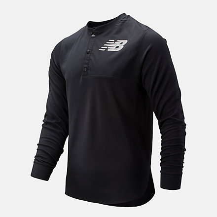 New Balance ASYM Baseball Henley, MT93712BK image number null