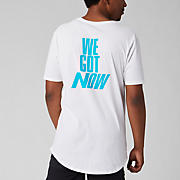 New Balance We Got Now Tee, White with Bayside