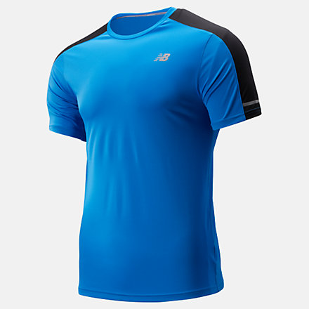 New Balance Core Run Short Sleeve Tee Solid, MT93917LBE image number null