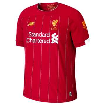 New Balance Liverpool FC Home SS Jersey EPL Patch, Red Pepper with White