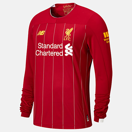 liverpool fc home ls jersey epl patch new balance liverpool fc home ls jersey epl patch
