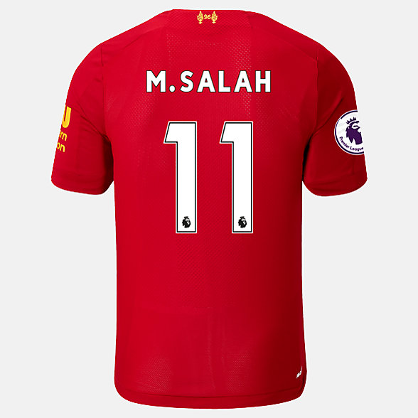 New Balance Liverpool FC Home SS Jersey Salah EPL Patch, MT939807HME