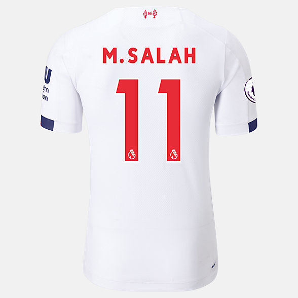 New Balance Liverpool FC Away SS Jersey Salah EPL Patch, MT939809AWY