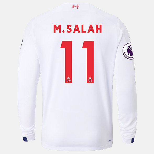 New Balance Liverpool FC Away LS Jersey Salah EPL Patch, MT939810AWY