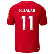 NB Liverpool FC Home SS Jersey Salah No EPL Patch, Red Pepper with White