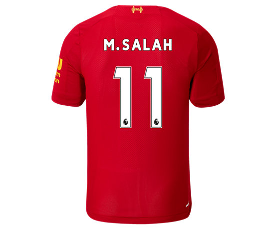 1c0f8ed664 NB Liverpool FC Home SS Jersey Salah No EPL Patch, Red Pepper with White