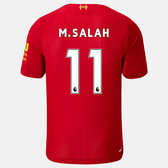 New Balance Liverpool FC Home SS Jersey Salah No EPL Patch, MT939812HME