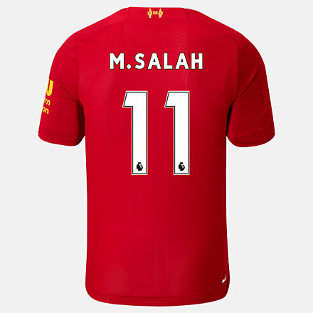 New Balance Liverpool FC Home SS Jersey Salah No EPL Patch, MT939812HME image number null