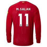 NB Liverpool FC Home LS Jersey Salah No EPL Patch, Red Pepper with White