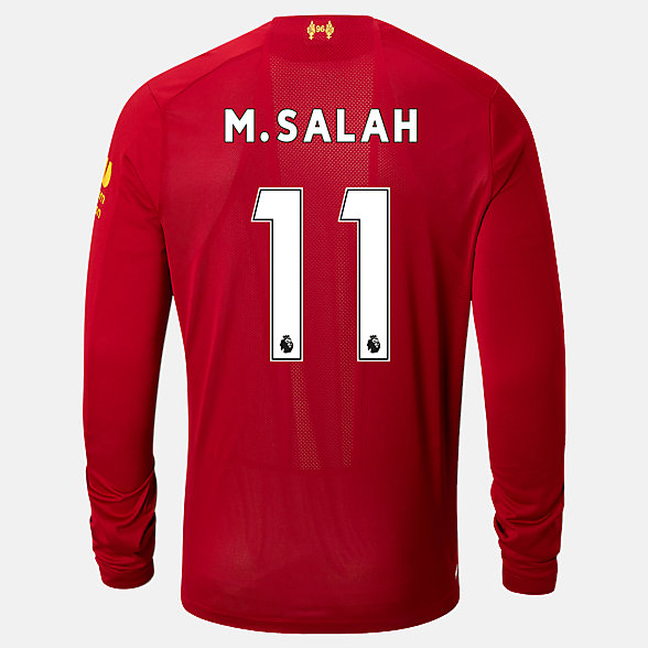 NB Liverpool FC Home LS Jersey Salah No EPL Patch, MT939813HME