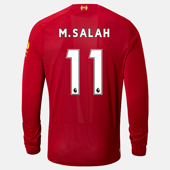 New Balance Liverpool FC Home LS Jersey Salah No EPL Patch, MT939813HME