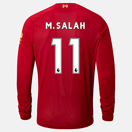 New Balance Liverpool FC Home LS Jersey Salah No EPL Patch, MT939813HME image number null
