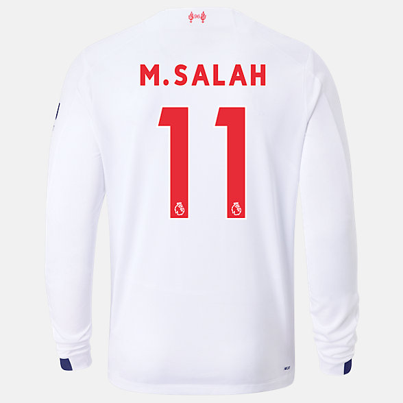 New Balance Liverpool FC Away LS Jersey Salah No EPL Patch, MT939815AWY