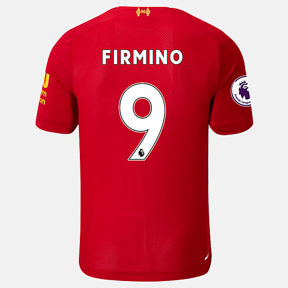 New Balance Liverpool FC Home SS Jersey Firmino EPL Patch, MT939817HME