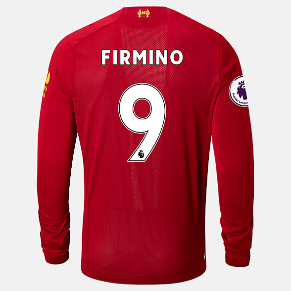 New Balance Liverpool FC Home LS Jersey Firmino EPL Patch, MT939818HME