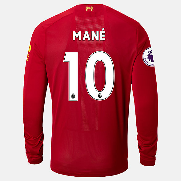New Balance Liverpool FC Home LS Jersey Mane EPL Patch, MT939828HME