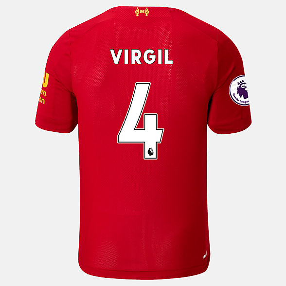 New Balance Liverpool FC Home SS Jersey Virgil EPL Patch, MT939837HME