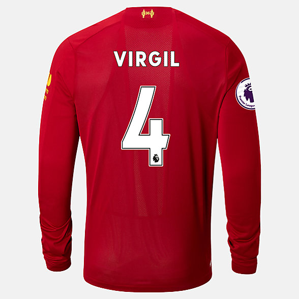 New Balance Liverpool FC Home LS Jersey Virgil EPL Patch, MT939838HME