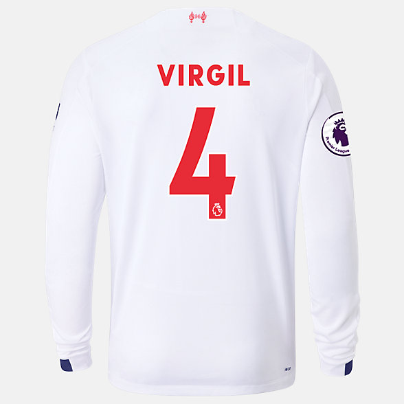 New Balance Liverpool FC Away LS Jersey Virgil EPL Patch, MT939840AWY