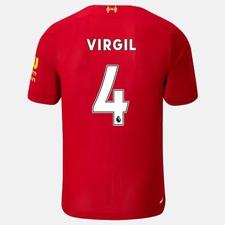 New Balance Liverpool FC Home SS Jersey Virgil No EPL Patch, MT939842HME image number null