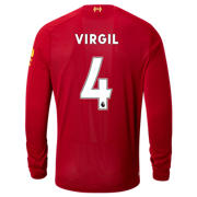 NB Liverpool FC Home LS Jersey Virgil No EPL Patch, Red Pepper with White
