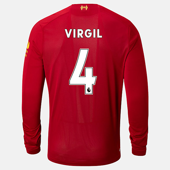 NB Liverpool FC Home LS Jersey Virgil No EPL Patch, MT939843HME