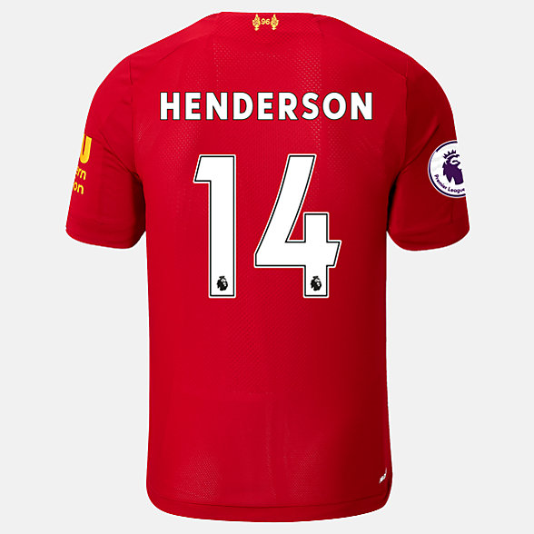 New Balance Liverpool FC Home SS Jersey Henderson EPL Patch, MT939847HME