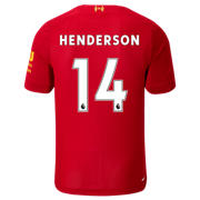 NB Liverpool FC Home SS Jersey Henderson No EPL Patch, Red Pepper with White
