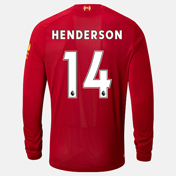 NB Liverpool FC Home LS Jersey Henderson No EPL Patch, MT939853HME