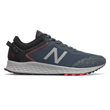 New Balance Fresh Foam Arishi Trail, Stone Blue with Black & Toro Red