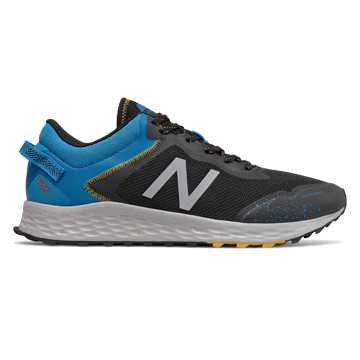 New Balance Fresh Foam Arishi Trail, Black with Vision Blue & Grey