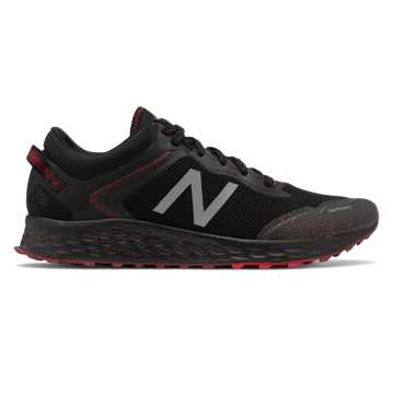 New Balance Fresh Foam Arishi Trail, Black with Team Red & NB Scarlet