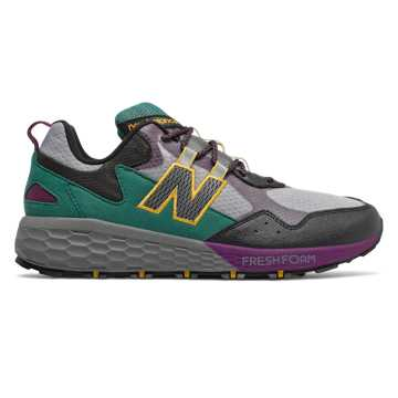 New Balance Fresh Foam Crag v2, Castlerock with Black & Midnight Magenta