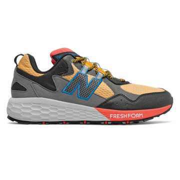 New Balance Fresh Foam Crag v2, Varsity Gold with Black & Toro Red