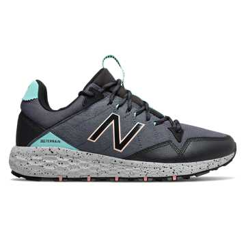 New Balance Fresh Foam Crag Trail, Thunder with Black & Light Tidepool
