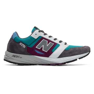 New Balance Made in UK 575 Mountain Wild, Dark Grey with Green & Purple